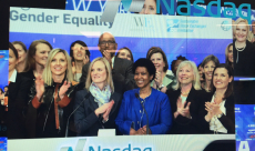 Nasdaq Exchange Bell Ringing for International Women's Day - Women in ETFs